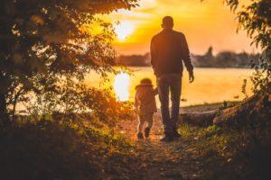 vader en kind na scheiding