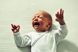 huilende baby ongeliefd